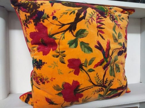 made in india velvet cushion