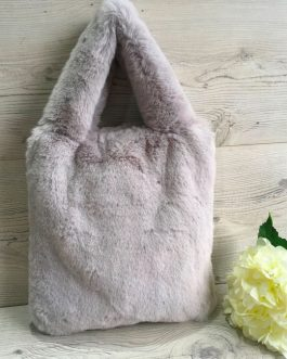Faux Fur Long Handled Bag