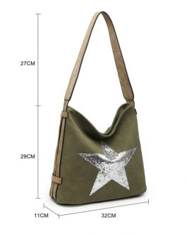 Fabric Star Shoulder Bag