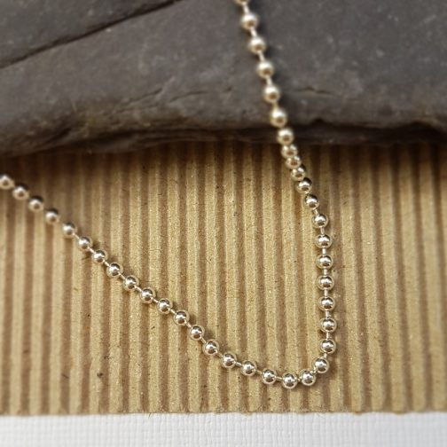 """sterling silver 2mm ball chain 16 to 18"""""""