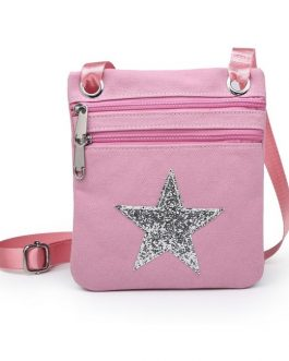Fabric Star Cross Body Bag