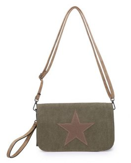 Fabric Star Cross Body & Clutch Bag