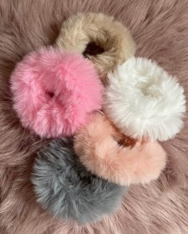 Faux Fur Scrunchie Duo