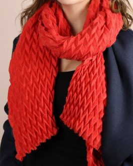 Chevron Pleated Scarf